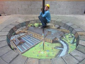 Sidewalk Chalk Art from Blog of Francesco Mugnai